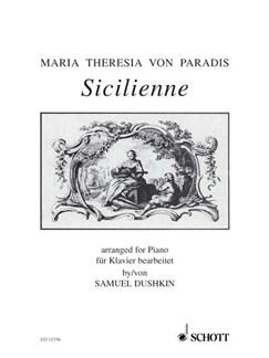 Maria Theresia Von Paradis: Sicilienne (Piano Solo) Books | Piano