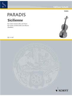 Maria Theresia Von Paradis: Sicilienne Books | Violin or Cello, Piano Accompaniment