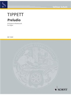 Michael Tippett: Preludio Al Vespro Di Monteverdi Books | Organ
