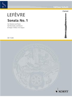 Jean Xavier Lefevre: Sonata No.1 (Clarinet/Piano) Books | Clarinet, Piano Accompaniment