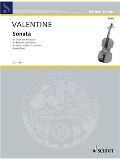 Robert Valentine: Sonata No.9 In A Minor (Viola/Piano) Books | Viola, Piano Accompaniment