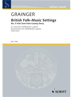 Irish Tune From County Derry (British Folk-Music Settings) Books | SATBarBarB, Choral