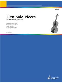 First Solo Pieces - Volume 1 Books   Violin, Piano Accompaniment