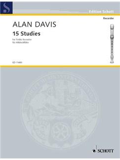 Alan Davis: 15 Studies For Treble Recorder Books | Alto (Treble) Recorder