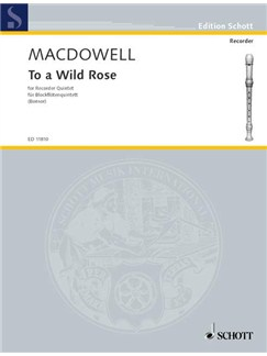 MacDowell; To a Wild Rose for Recorder Quintet Books | Recorder Ensemble