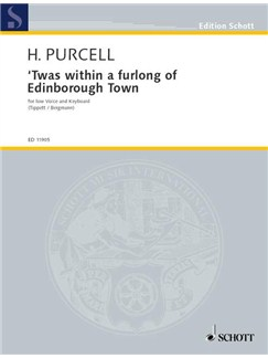 Henry Purcell: 'Twas Within A Furlong Of Edinborough Town Books | Low Voice, Piano Accompaniment