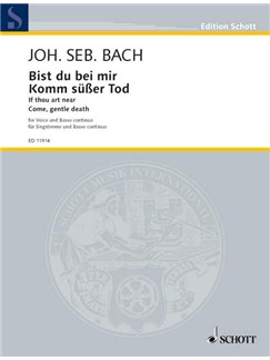 J.S. Bach: Bist Du Bei Mir (Low Voice) Books | Low Voice, Piano