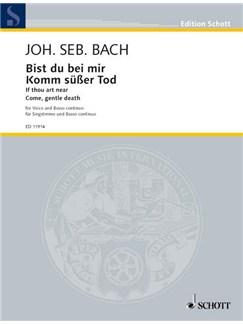 J.S. Bach: Bist Du Bei Mir (Low Voice) Books | Low Voice, Piano