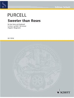 Henry Purcell: Sweeter Than Roses Books | Low Voice, Keyboard