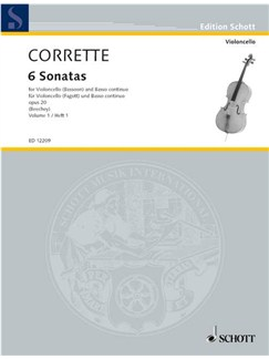 Michel Corrette: Les Delices De La Solitude Op.20 Vol.1 Books | Bassoon, Piano Accompaniment