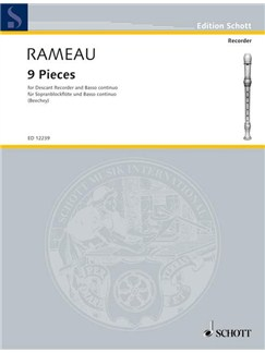 Jean-Philippe Rameau: 9 Pieces For Recorder Books | Descant Recorder with Piano Accompaniment