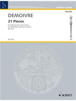 Demoivre; 21 pieces for treble recorder and continuo Books | Continuo, Alto (Treble) Recorder