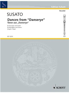 "Susato: Dances from ""Danserye"" for Descant Recorder and Guitar Books 