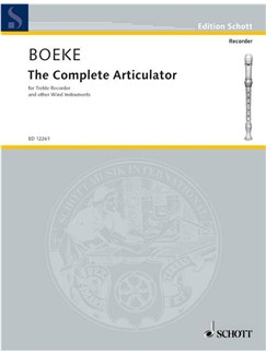 Boeke; The Complete Articulator for Treble Recorder Books | Alto (Treble) Recorder