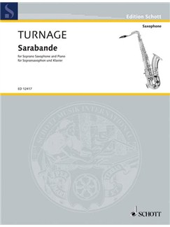 Mark-Anthony Turnage: Sarabande Books | Soprano Sax, Piano Accompaniment