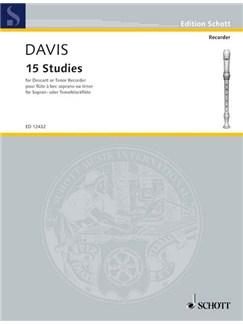 Alan Davis: 15 Studies For Descant Or Tenor Recorder Books | Soprano (Descant) Recorder, Tenor Recorder