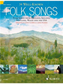 Thirty Four Well-Known Folk Songs Books | Keyboard or Piano