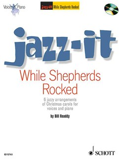 Jazz-It: While Shepherds Rock (Book/CD) Books and CDs | Voice, Piano Accompaniment(with Chord Symbols)
