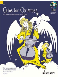 Cellos For Christmas For 1 or 2 Cellos Book/CD Books | Cello or Two Cellos
