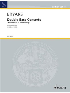Gavin Bryars: Double Bass Concerto (Double Bass/Piano) Books | Double Bass, Piano Accompaniment