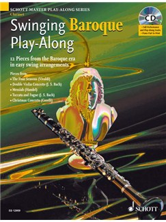 Swinging Baroque Play-Along (Clarinet) Books and CDs | Clarinet