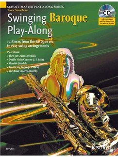 Swinging Baroque Play Along Tenor Sax Bk/Cd Books and CDs | Tenor Saxophone