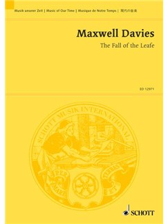 Peter Maxwell Davies: The Fall Of The Leafe (Study Score) Books | String Orchestra