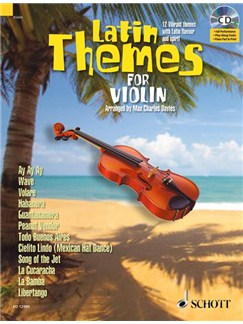 Latin Themes Violin Bk/Cd Books | Violin