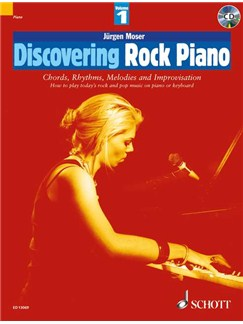 Jürgen Moser: Discovering Rock Piano - Volume 1 Books and CDs | Piano