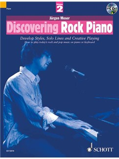 Jürgen Moser: Discovering Rock Piano - Volume 2 Books and CDs | Piano