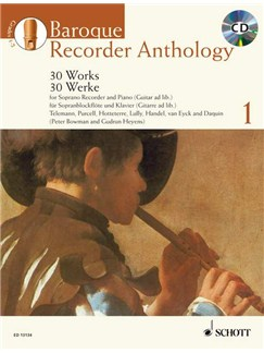 Baroque Recorder Anthology - Volume 1 Books and CDs | Descant Recorder