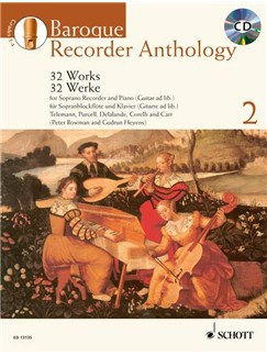Baroque Recorder Anthology - Volume 2 Books and CDs | Soprano (Descant) Recorder, Piano Accompaniment