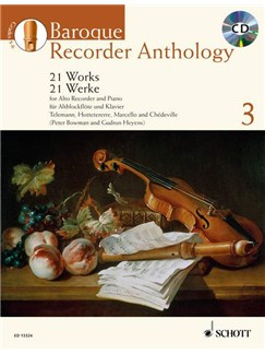 Baroque Recorder Anthology - Volume 3 Books and CDs | Alto (Treble) Recorder, Piano