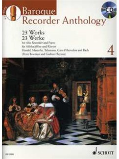 Baroque Recorder Anthology - Volume 4 Books and CDs | Alto (Treble) Recorder, Piano Accompaniment