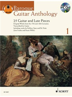Baroque Guitar Anthology - Volume 1 Books and CDs | Classical Guitar, Baroque Guitar, Guitar