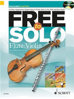 Rob Hughes/Paul Harvey: Free To Solo - Flute Or Violin Books and CDs | Violin, Flute