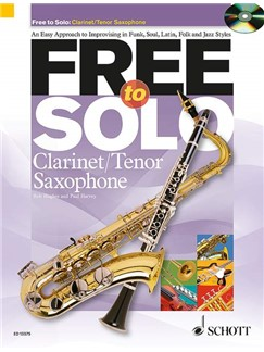 Rob Hughes/Paul Harvey: Free To Solo - Clarinet Or Tenor Saxophone Books and CDs | Clarinet, Tenor Saxophone
