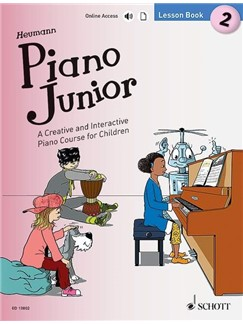 Hans-Günter Heumann: Piano Junior - Lesson Book 2 (Book/Online Media) Books and Digital Audio | Piano