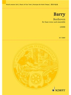 Gerald Barry: Beethoven Books | Ensemble, Bass Voice