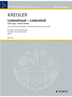 Fritz Kreisler: Liebesfreud Liebesleid (Violin, Viola And Cello) Books | Violin, Viola, Cello