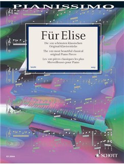 Fur Elise 100 Easy Classical Piano Pieces Books | Piano
