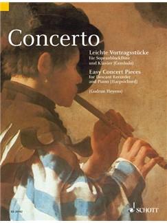 Concerto - Easy Concert Pieces For Descant Recorder Books | Descant Recorder, Piano Accompaniment
