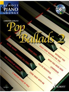 Schott Piano Lounge: Pop Ballads 2 Books and CDs | Piano