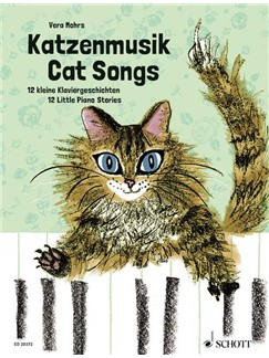 Vera Mohrs: Cat Songs - 12 Little Piano Stories Books | Piano