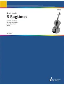 Joplin: 3 Ragtimes arranged for Viola Books | Viola