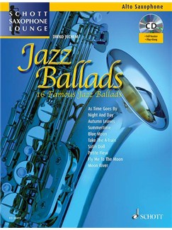 Jazz Ballads Books and CDs | Alto Saxophone, Piano Accompaniment