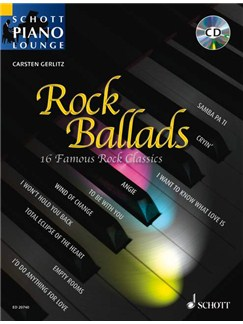 Schott Piano Lounge: Rock Ballads Books and CDs | Piano