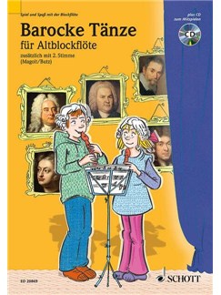 Barocke Tänze Für Altblockflöte (Book/CD) Books and CDs | Alto (Treble) Recorder (Duet)
