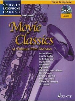 Dirko Juchem: Movie Classics - 14 Famous Film Melodies (Book/CD) Books and CDs | Tenor Saxophone