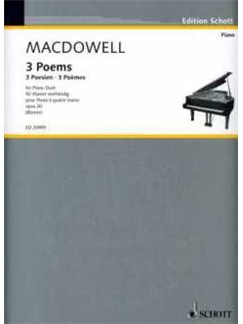 Edward MacDowell: 3 Poems Books | Piano Duet